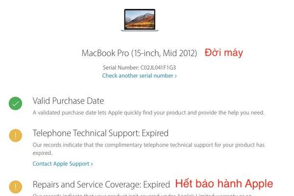 Cách kiểm tra macbook cũ trước khi mua chuẩn nhất | Laptop Nano