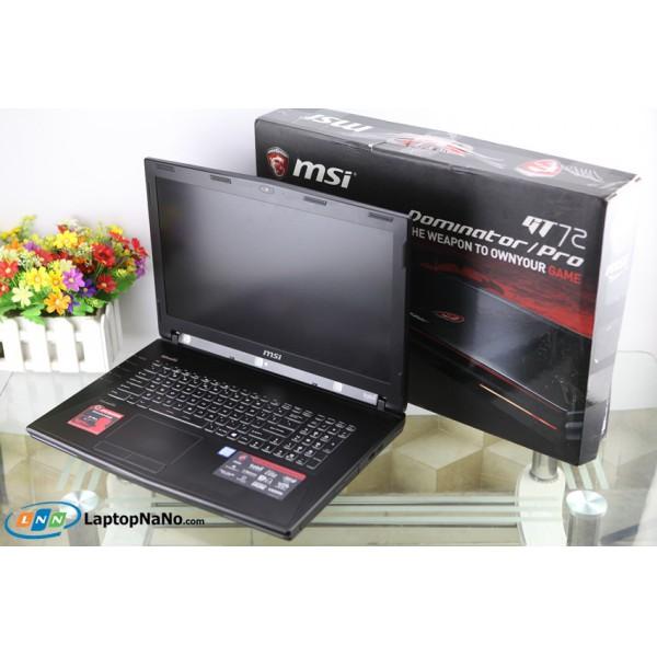 MSI GT72S 6QE Dominotor Pro G Tobii (Khủng Long), Core i7-6820HK, Ram 32G, 256G + 1Tb, GeForce GTX 980M/8G-DDR5-256Bit, Nguyên Tem Zin (FullBox), Xách Tay USA