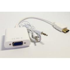 HDMI to VGA (CÓ AUDIO), Chuyển tín hiệu có cổng HDMI laptop máy tính bảng sang VGA cho màn hình Tivi và máy chiếu