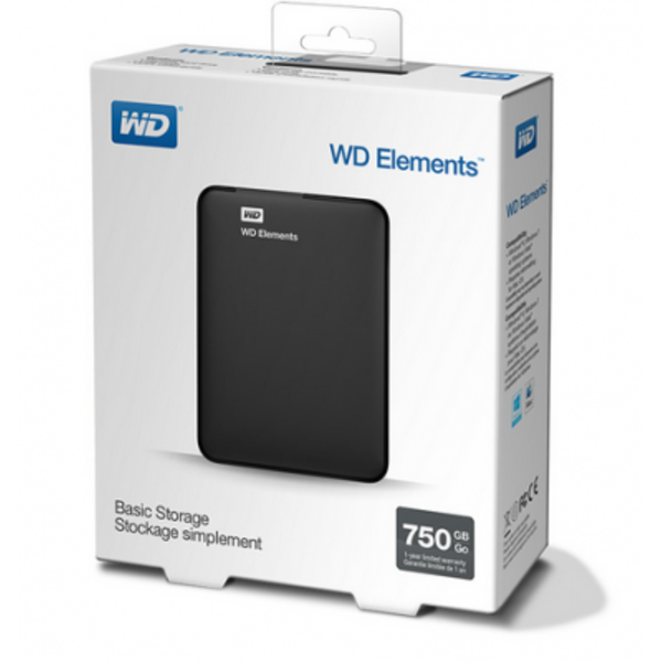 Ổ Cứng Di Động  WD Elements 750GB 2.5inch USB 3.0